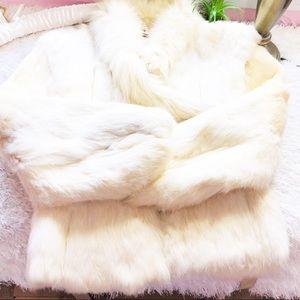Jackets & Blazers - Rabbit fur Vintage Ivory Coat | Jacket 🌸